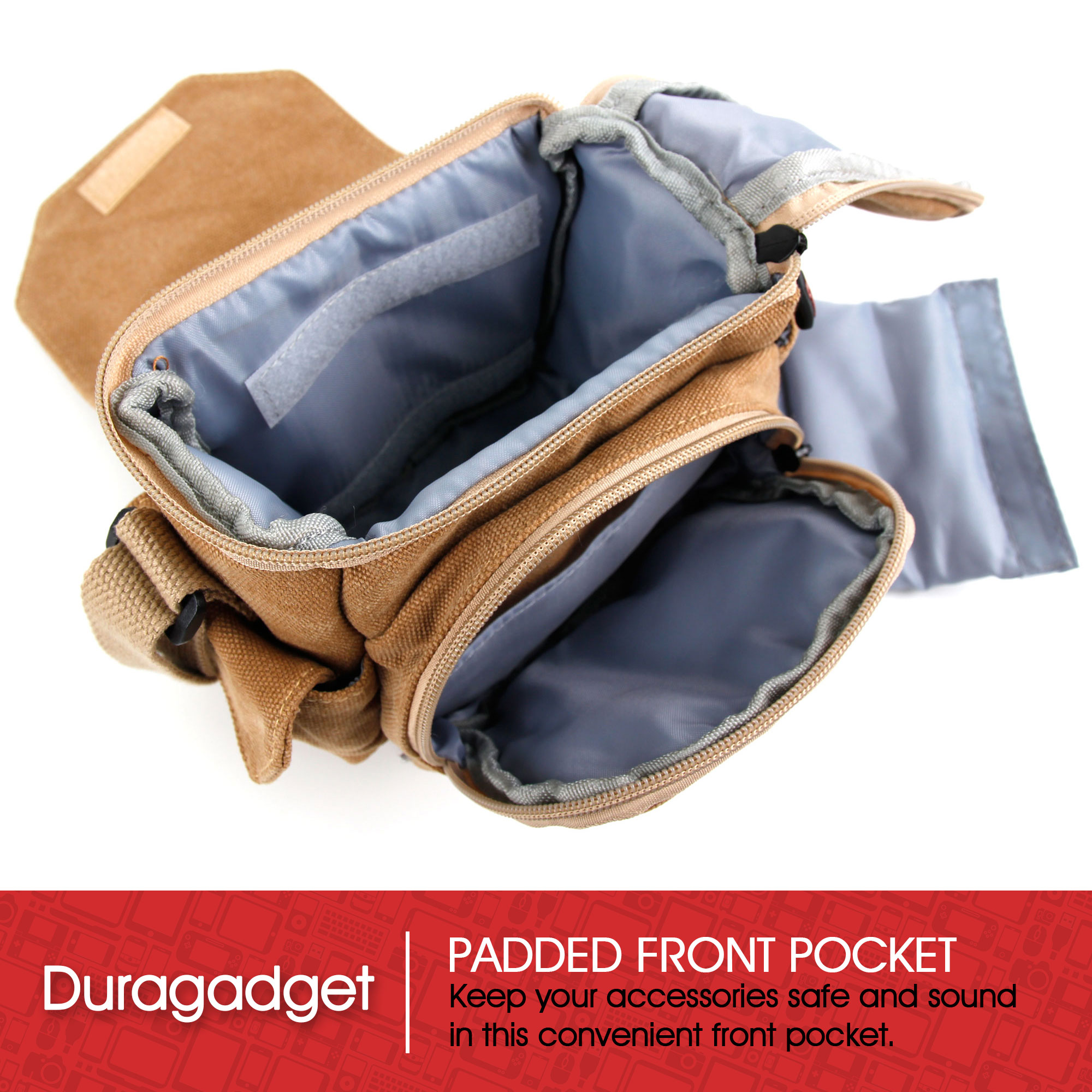 Binoculars & Telescopes Light Brown Canvas Bag With Pockets For Hutact Wide-field Binoculars 10x42