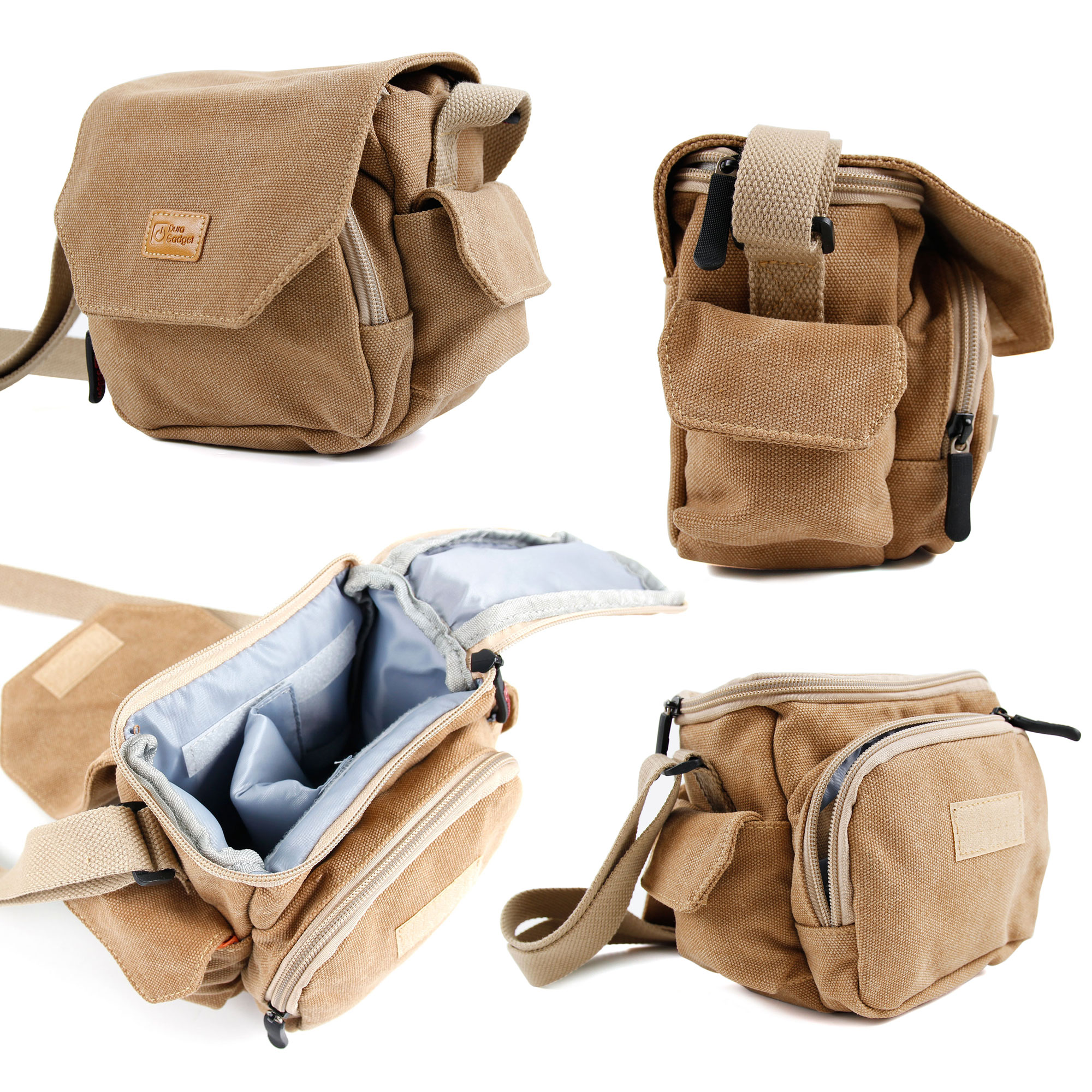 Cameras & Photo 10x42 Binoculars & Telescopes Light Brown Canvas Bag With Pockets For Hutact Wide-field Binoculars